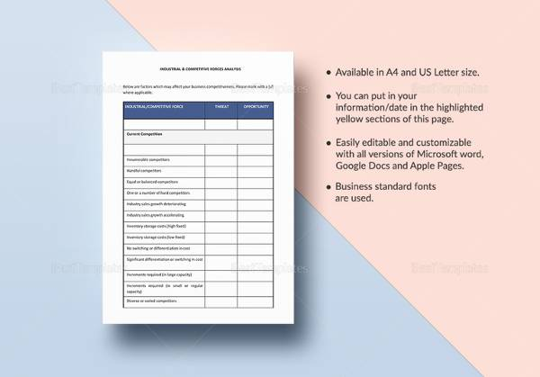 Industry Analysis Sample   Documents In Pdf