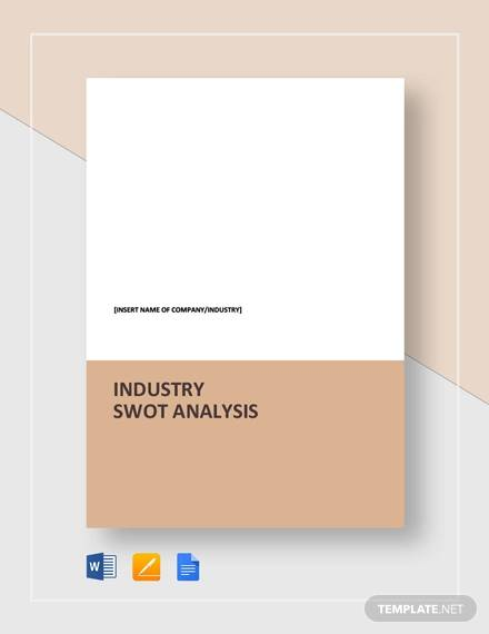 industry swot analysis template