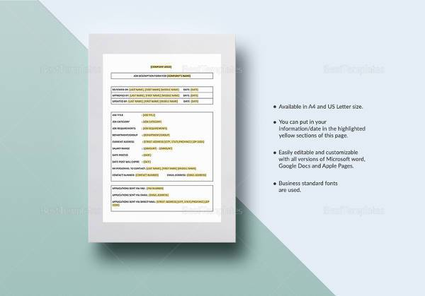 33+ Job Description Templates | Sample Templates