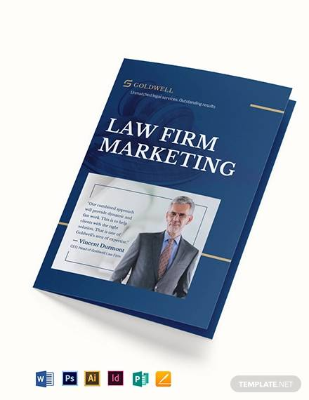 law firm marketing bi fold brochure template