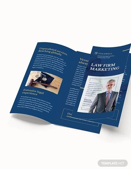 law firm marketing tri fold brochure template