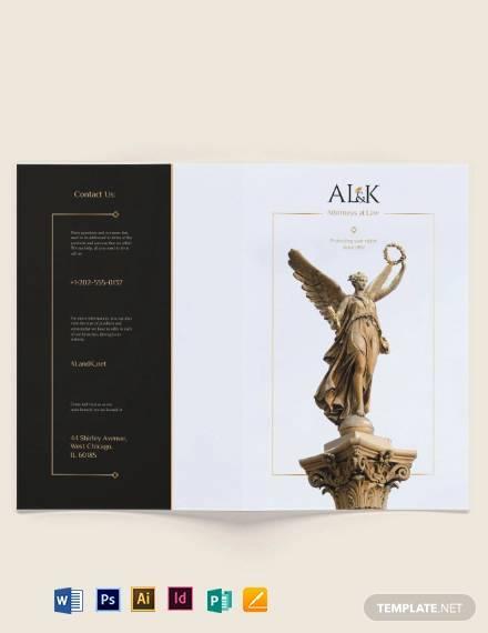 lawyer bi fold brochure template