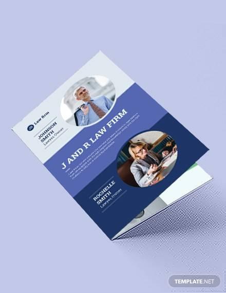lawyer law firm bi fold brochure template