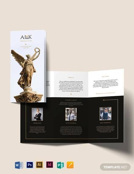 lawyer tri fold brochure template