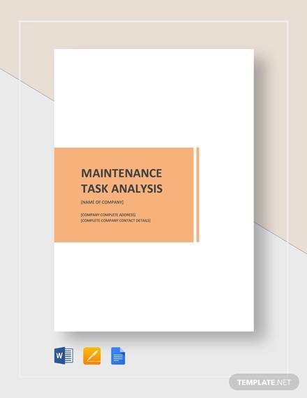 maintenance task analysis