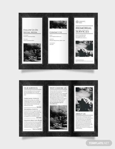 memorial tri fold brochure template