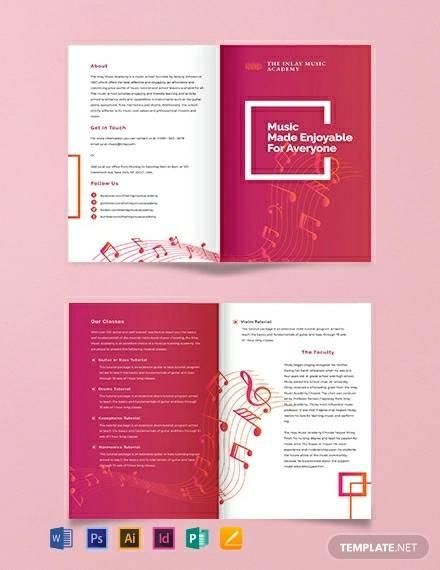 music bi fold brochure template