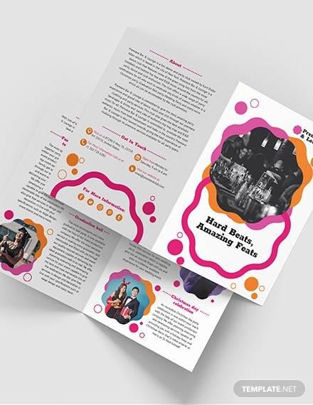 party bi fold brochure template