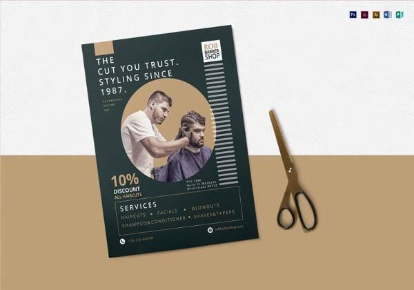 printable barbershop flyer template