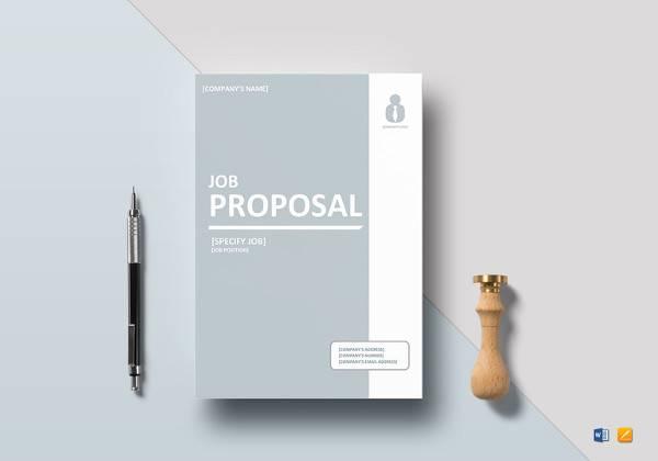 printable job proposal template