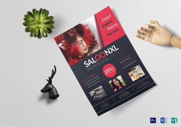 Professional Beauty Hair Salon Flyer Template