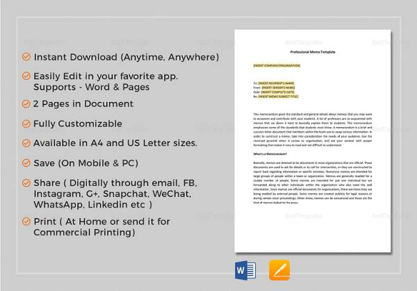 sample memo 29 documents in pdf word