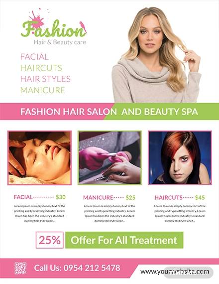 salon free flyer