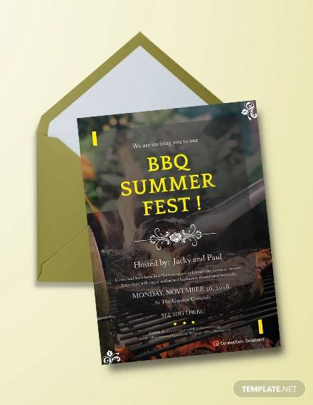 sample bbq invitation template