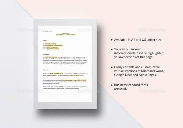 sample business memo template1