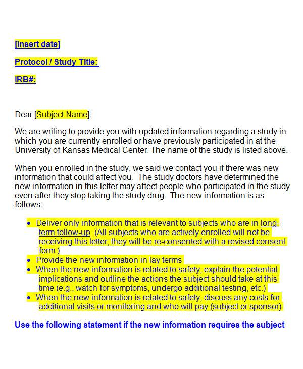sample notify letter in ms word