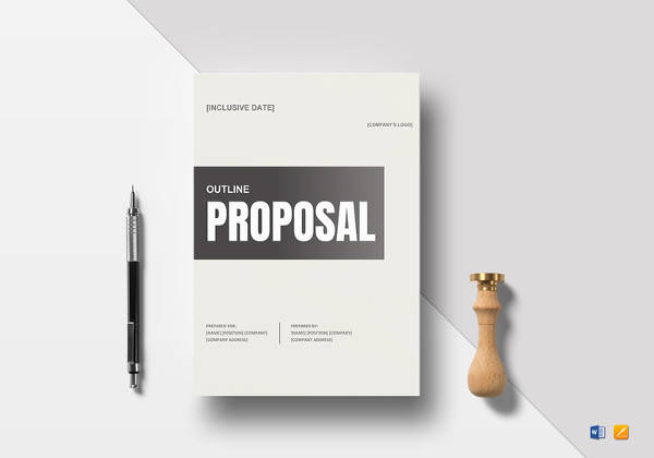 simple proposal outline word template