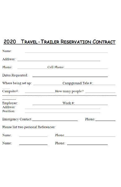trailer rental agreement in ms word