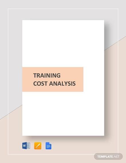 training cost analysis