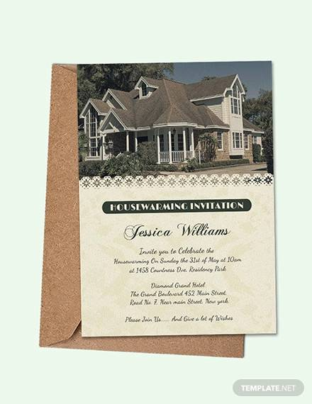 welcoming housewarming invitation card template