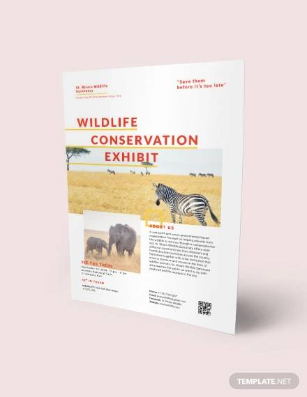 wildlife conservation flyer
