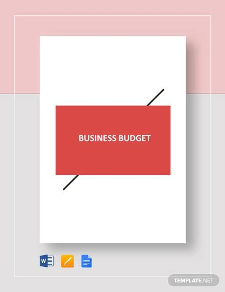 business plan budget