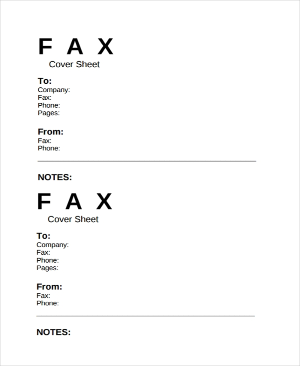 Sample Fax Cover Sheet Template   Free Documents Download In Pdf