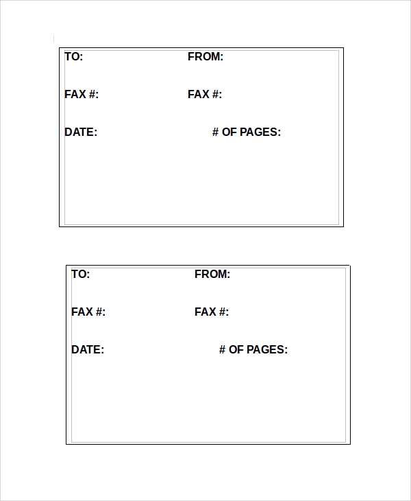 Sample Fax Cover Sheet Template   Free Documents Download In