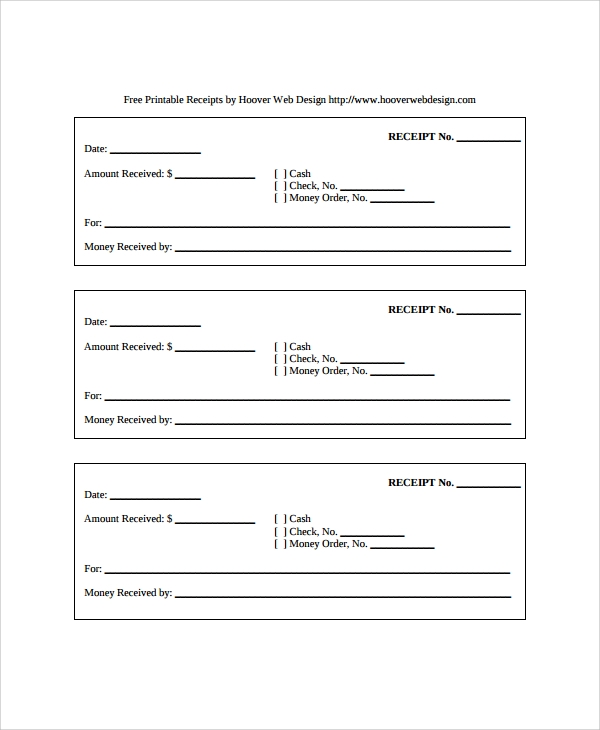 Sample Receipt Templates 19 Free Documents Download in PDF Word – Free Receipt