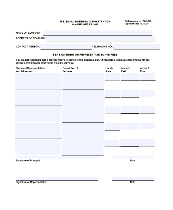 Sample Business Plan Outline Template - 7+ Free Documents Download