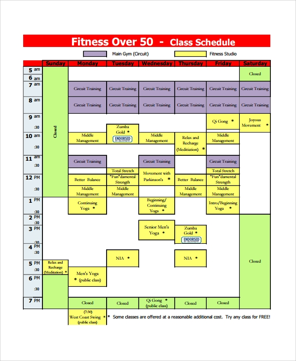 Sample Class Timetable Template 9 Free Documents Download In Pdf