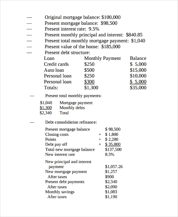 Sample Mortgage Amortization Calculator Template   Free