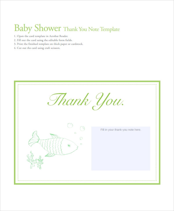 23 sample thank you notes sample templates