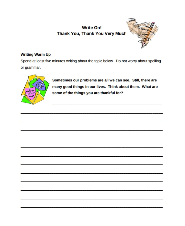 sample writing thank you notes