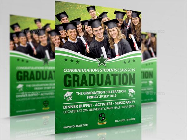 graduation flyer psd