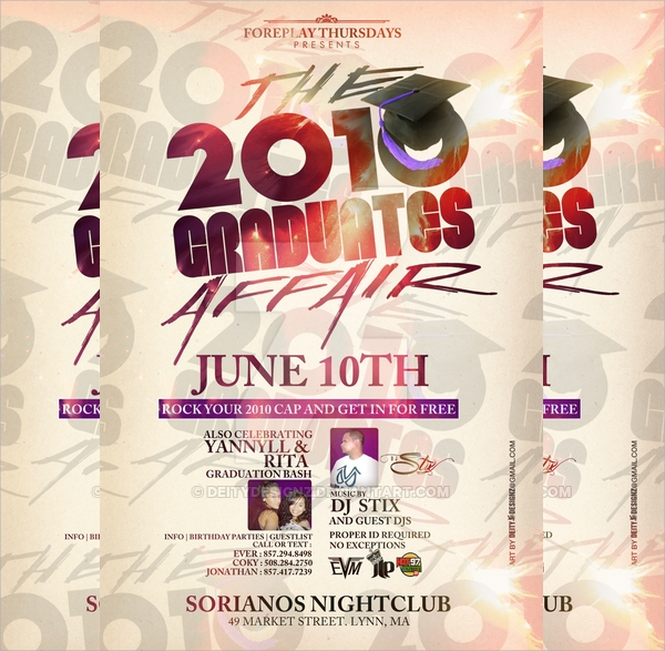 awesome graduation flyer