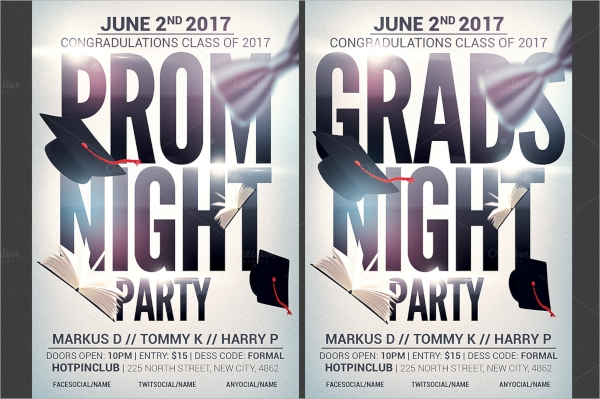 prom graduation night party flyer