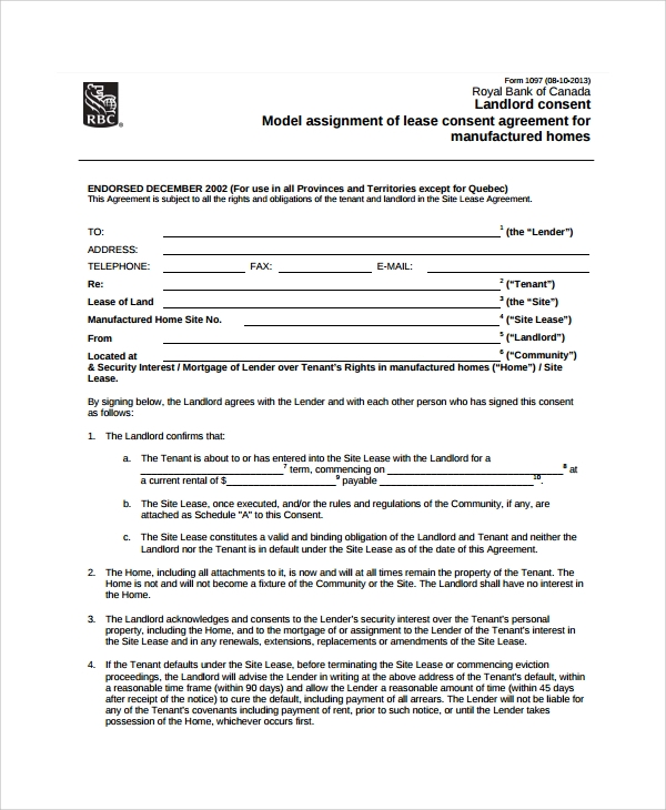 10 Assignment Of Lease Templates