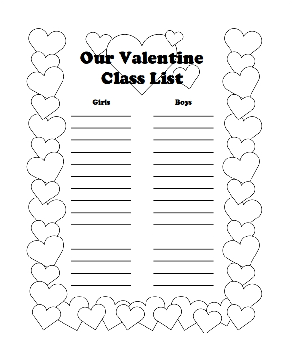 sample class list template 7 free documents download in pdf