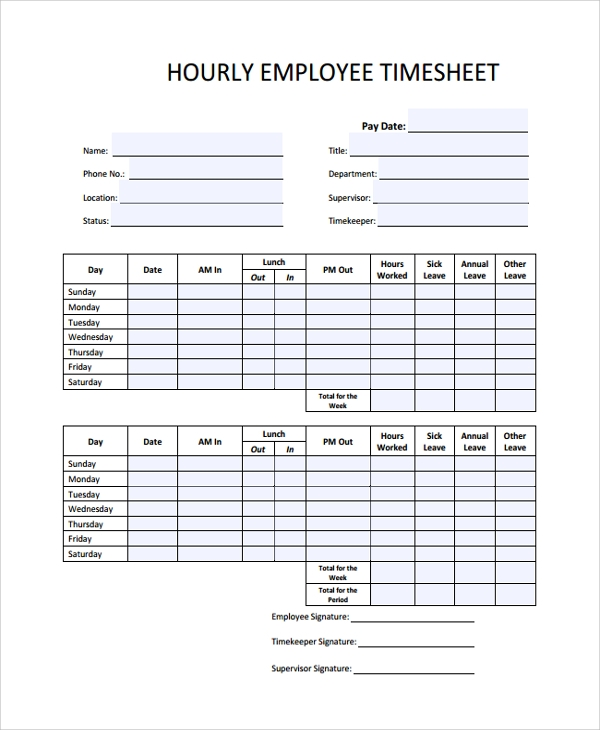sample timesheet template 21 free documents download