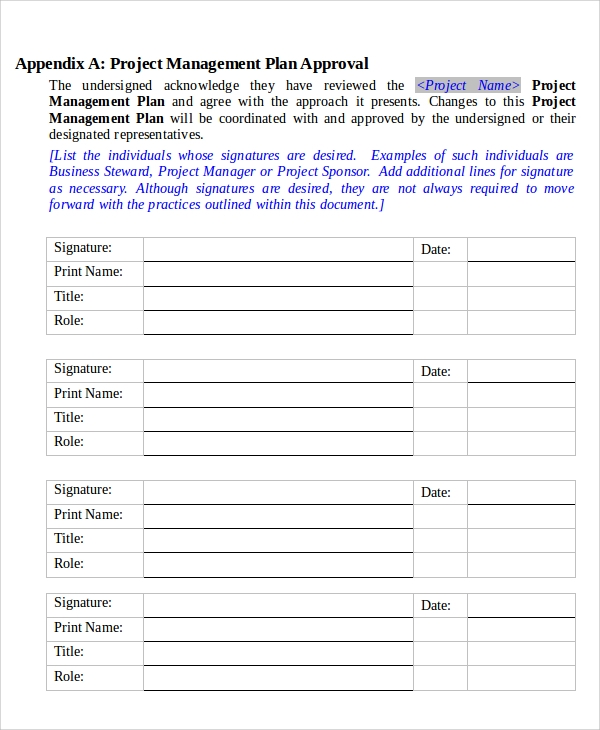 project management policy template 7 it project plan templates sample templates