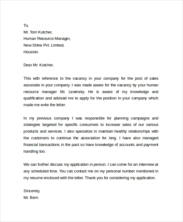 Cover Letter Examples For Sales Jobs  Resume Cv Cover Letter