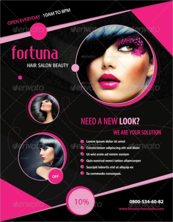 Hair Salon Flyer Templates  PsdFree Eps Format Download