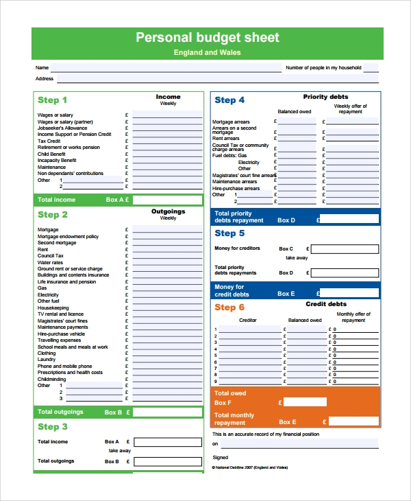 Sample Budget Template   Free Documents Download In  Excel