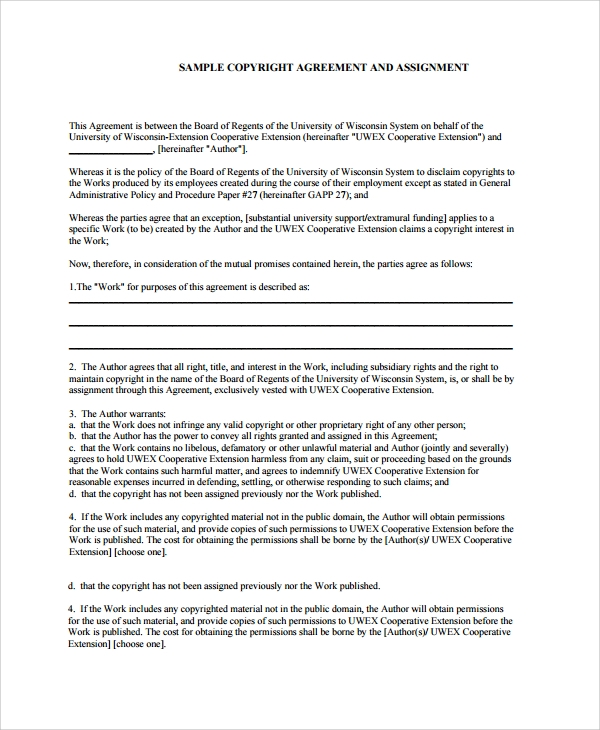 Sample Assignment Agreement Template   Free Documents Download