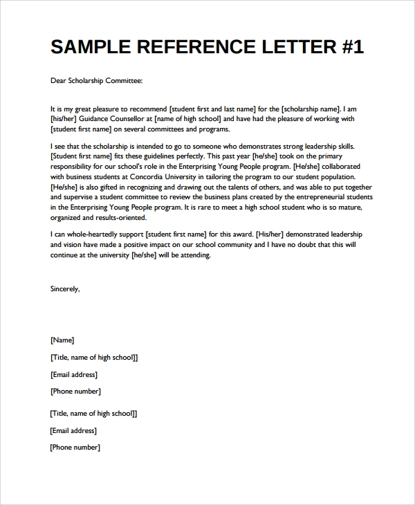 Sample Reference Letter 20 Free Documents Download in Word PDF – Reference Letters