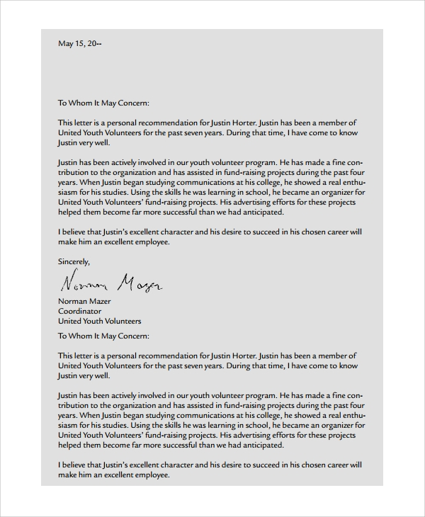 how to make a reference letter