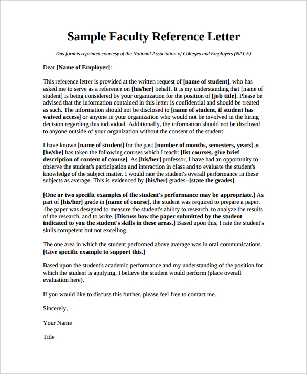 sample reference letter 20 free documents download in