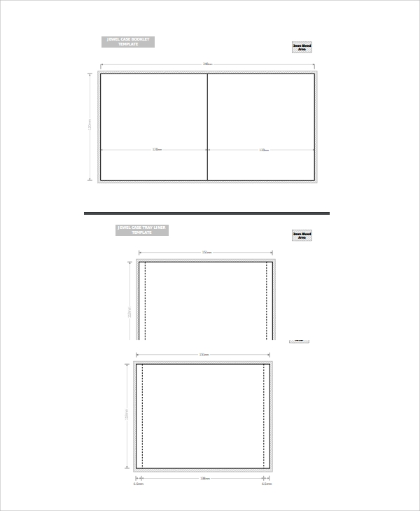 basic jewel case template
