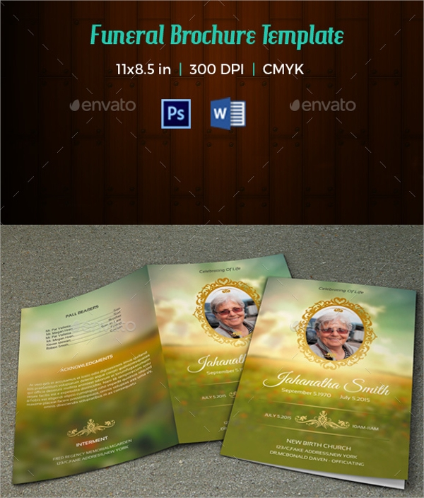 Memorial Brochure Templates  Psd Vector Eps Format Download
